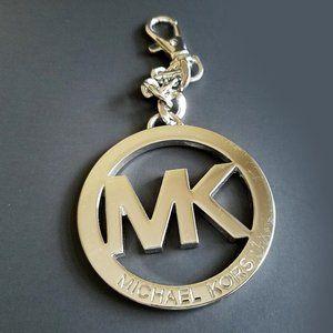 Michael Kors XL Silver Tone Key Bag Chain Charm